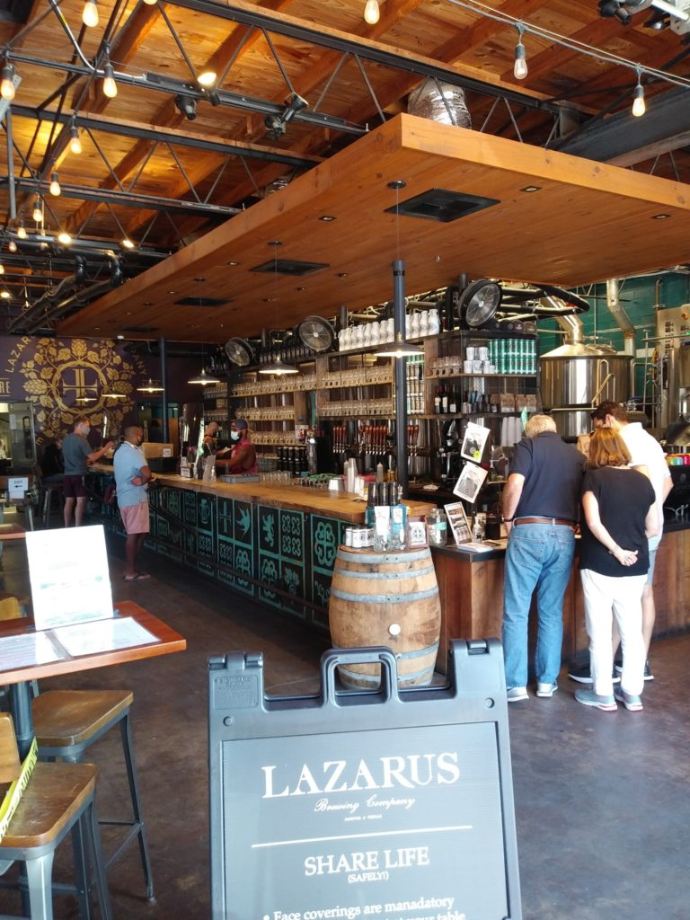Lazarus Brewing entrance
