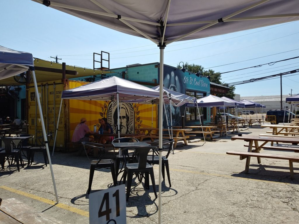 Lazarus Brewing outdoor seating